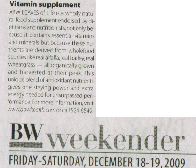ABW Article on BW