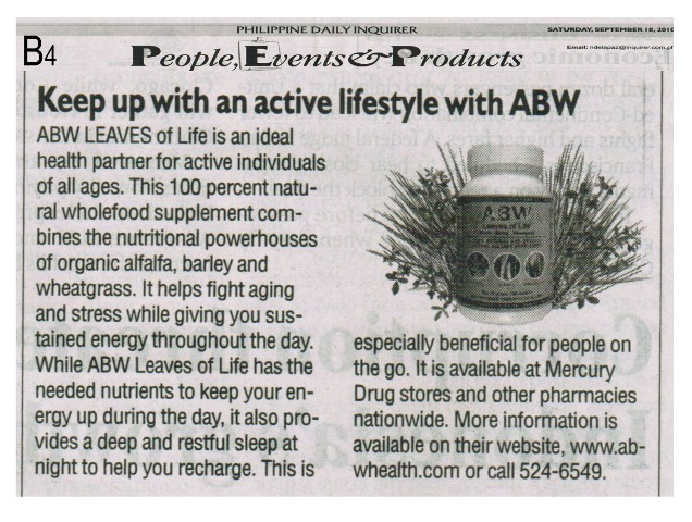 Keep up with an active lifestyle with ABW